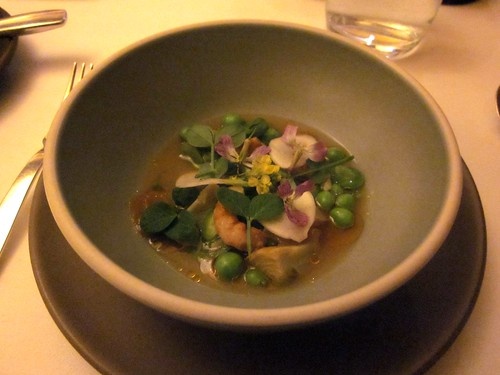 Coi - San Francisco - May 2011 - Crayfish, Artichoke, Peas