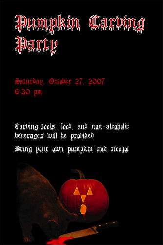 Pumpkn Carving Invitation