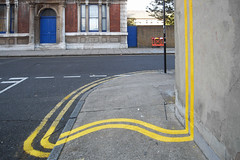 no parking (johanna) Tags: streetart pavement banksy bethnalgreen doubleyellows