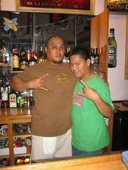 Caretakers of Shaka Restaurant, the true southernmost bar/restaurant in all the United States