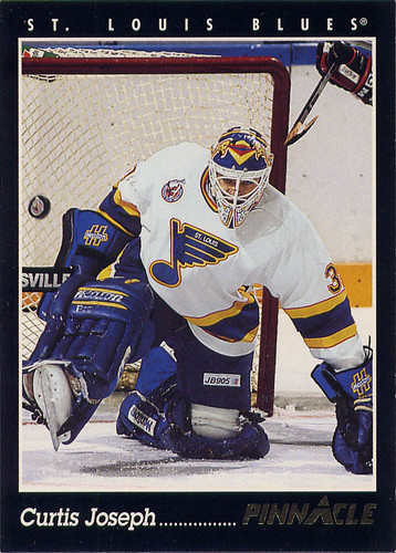 Curtis Joseph, St. Louis Blues, NHL, Pinnacle, 93-94, hockey, hockey cards