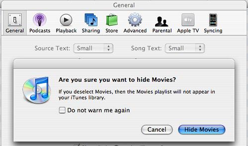 iTunes Media Preferences