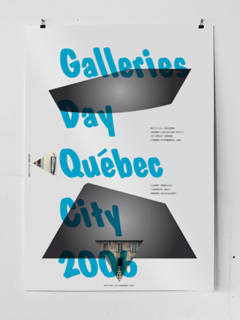 Posterdesign for Galleries Day 2006