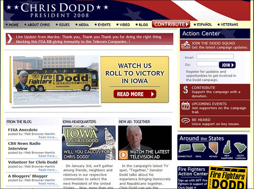 Chris Dodd for President Main Page