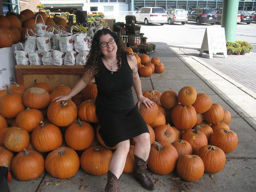 Lisa and the pumpkins