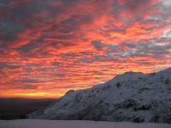 Glacial Valley's Sunset (lobotomyzed) Tags: snow portugal estrela da neve serra