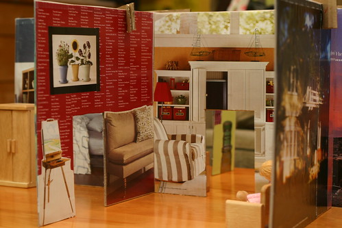 cardboard dollhouse: living room