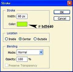 Tutorial - Stroke options for photoborder