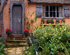 The Fairytale Cottages of Carmel (linda yvonne) Tags: colorful rustic stucco 1929 splendiferous supershot interestingness164 i500 storybookstyle avision storybookhomes lindayvonne anawesomeshot favoritegarden infinestyle diamondclassphotographer flickrdiamond citrit hughcomstock theunforgettablepictures