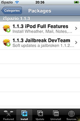 1.1.3 Firmware Jailbroken Dev Team iSpazio