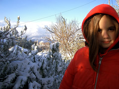 Marianina and the (snowy) Rosemary (angeloska) Tags: snow ikaria  aegean greece rosemary christos   raches    marianina