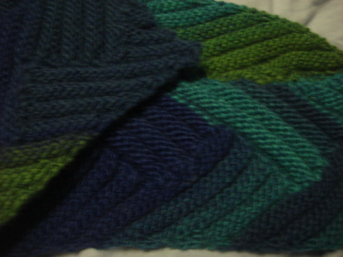 Short Row Rib Scarf