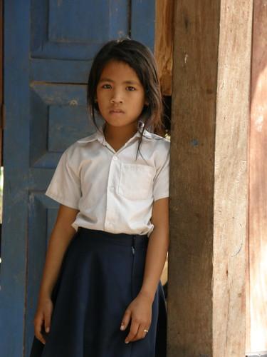Cambodian school girl