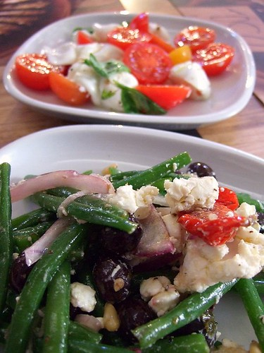 bean and tomato salads