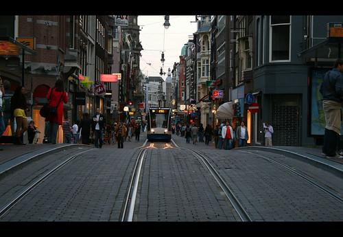tranvía por Amsterdam