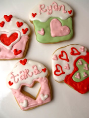 "Valentines ""Love Muffins"" (nikkicookiebaker) Tags: cookies decorated"