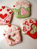 "Valentines ""Love Muffins"" (nikkicookiebaker) Tags: cookies decorated"