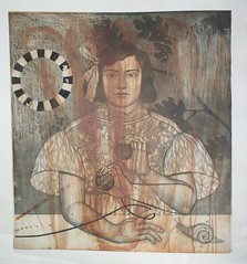 checker circle proof--2008 (Hibiki M.) Tags: art print etching printmaking intaglio