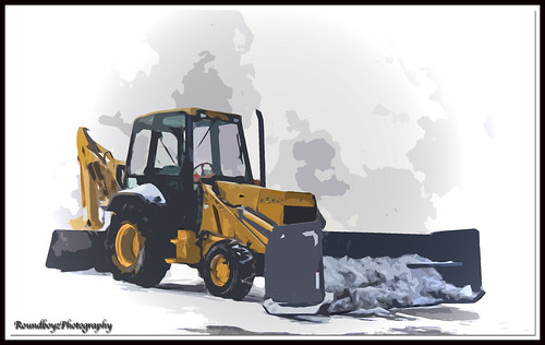 backhoe painting