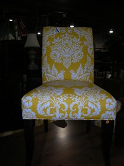 Furniture affair - yellow side chair