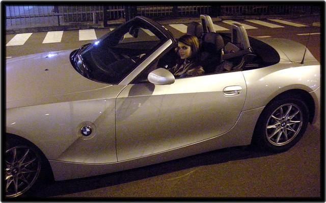 auto car night automobile milano potenza sguardo coche bmw z4 2008 asfalto macchina marzo velocità sera guida sesto sfida