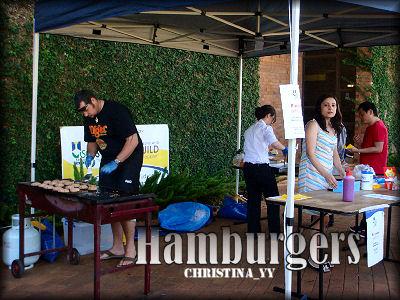 Western Food Stall: Hamburgers