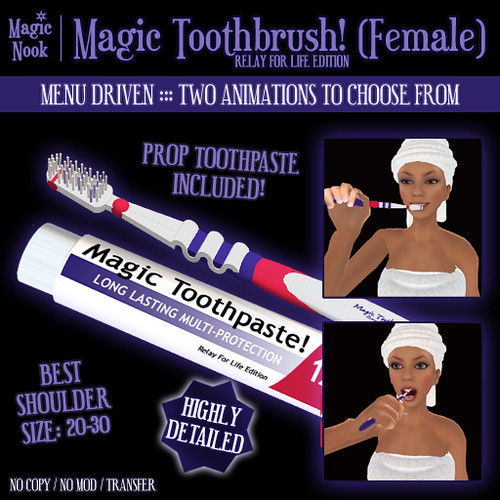 * Magic Nook * Magic Toothbrush (Female) (RFL Edition)