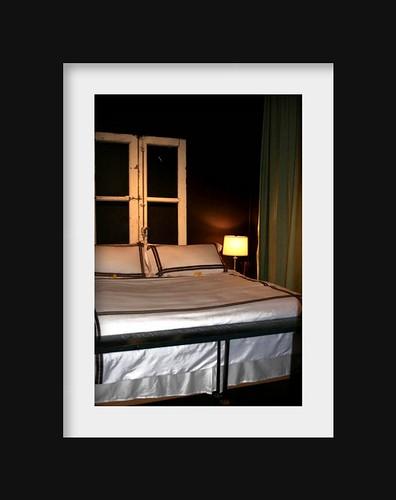 loft living: guest room bed.