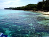 The beautifully clear and coral-rich waters off Isla Reta Dos