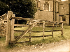 Antique Gate (Mockney Rebel) Tags: wood old church gate rotten
