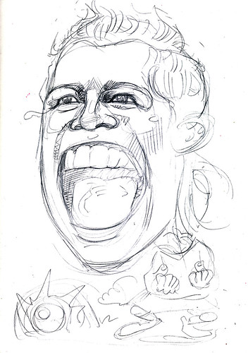 caricature Cristiano Ronaldo pencil sketch