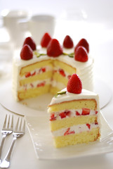 "ready for a slice of ""high"" cake ? (*steveH) Tags: food cake dessert strawberry sweet cream explore slice steveh strawberrycreamcake"