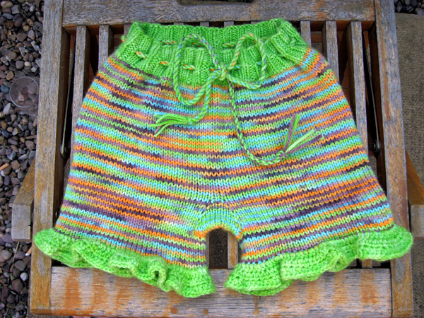 Erica's Shorties with crochet ruffle