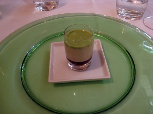 Joia, Milan: Starter, Lime, Green Beans, and Balsamic Gelee