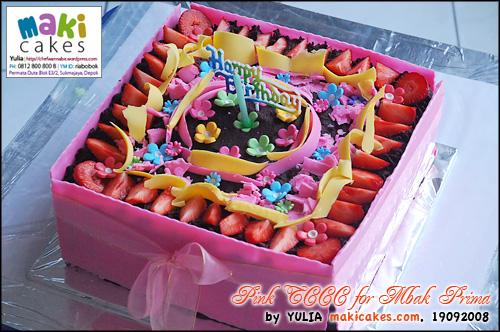 Pink TCCC for Mbak Prima - Maki Cakes