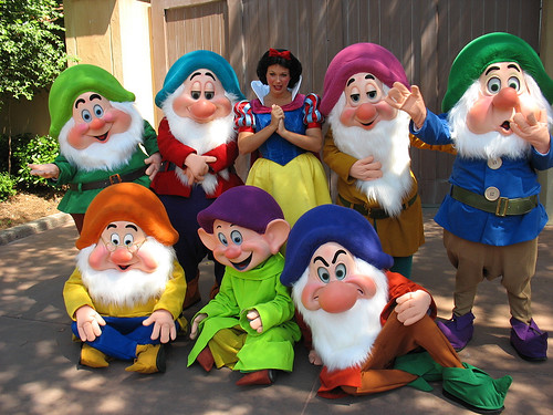 The boys can come as one of the seven dwarfs