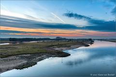 IJssellandschap (Hans van Bockel) Tags: hansvanbockel 1680mm bridge city d7200 deventer front ijssel lightroom lucht nef natuur nevelgeul nikon photoshop raw spoorbrug stad uiterwaarden zonsondergang