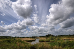 England: Northamptonshire - Spring Sky (Tim Blessed) Tags: uk sky mountains nature clouds reeds landscapes countryside scenery lakes wetlands ponds soe gmt superaplus aplusphoto singlerawtonemapped