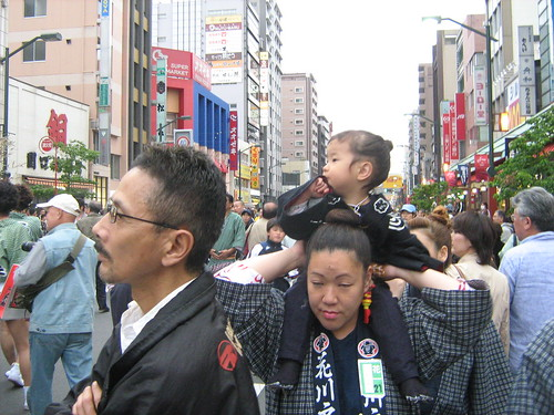 Little girl at the Sanja Matsuri
