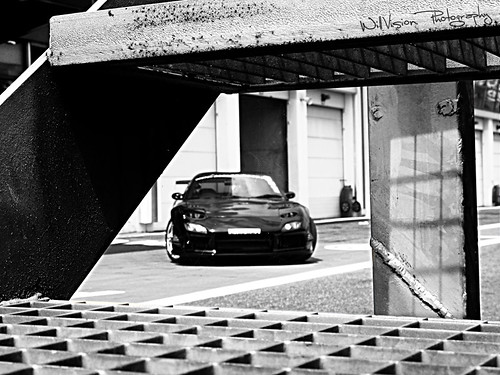 Black JDM Drifting / Racing Mazda RX7 FD3S