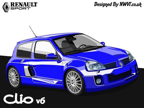 Renault Clio V6 Sport Black. Renault Clio V6