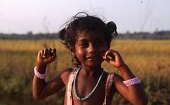 Young Girl on Farm (Peter Schnurman) Tags: india girl village child tamilnadu developingworld thirldworld kancheepurim