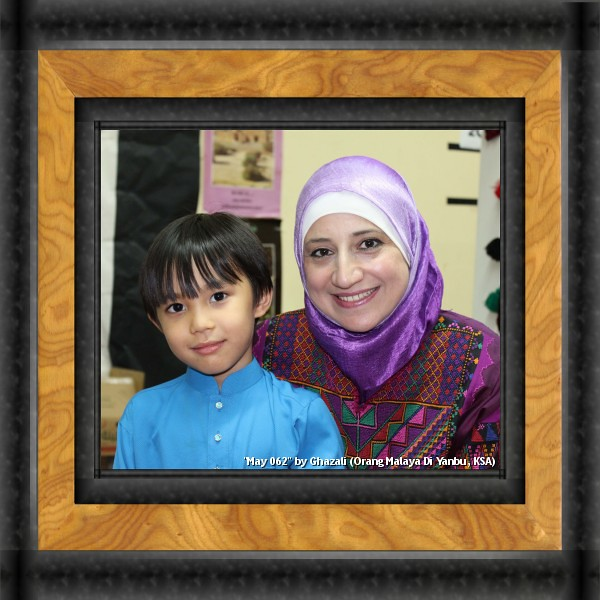 Syafiq and Ms Raeda, JK Teacher