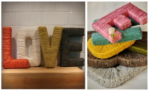 Yarn Wrapped Letter Inspiration