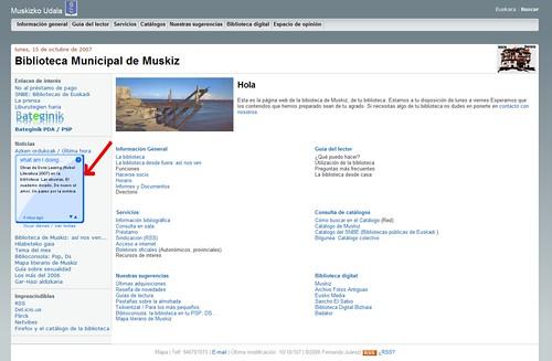 La Biblioteca Municipal de Muskiz twittea
