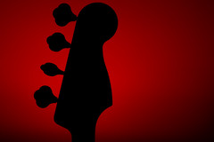 Community Darkroom Homework-5279.jpg (stevelosh) Tags: red silhouette bass fender bassguitar electricbass strobist