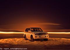 !   (!  ) Tags: car night toyota land landcruiser cruiser doha qatar sohail suhail  sealine   najem  quatar