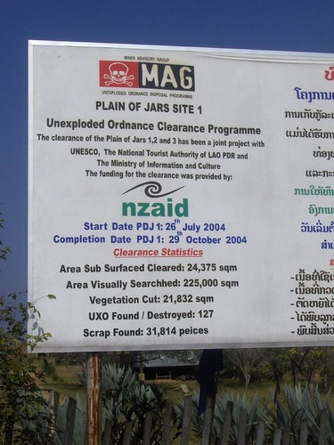 UXO Removal Info Sign, Plain of Jars Site 1
