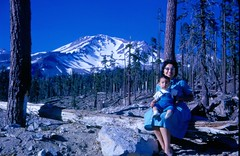 Tina and Robert in front of Mt. Shasta. (07/1962)