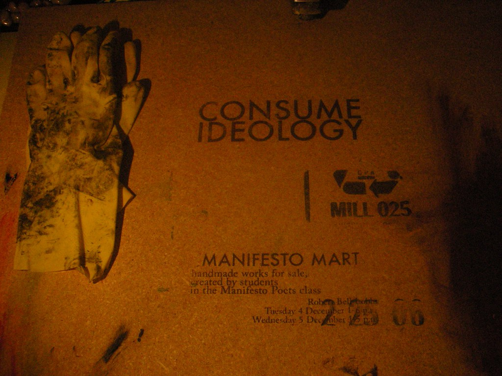 Manifesto Mart Flyer (on MDF)